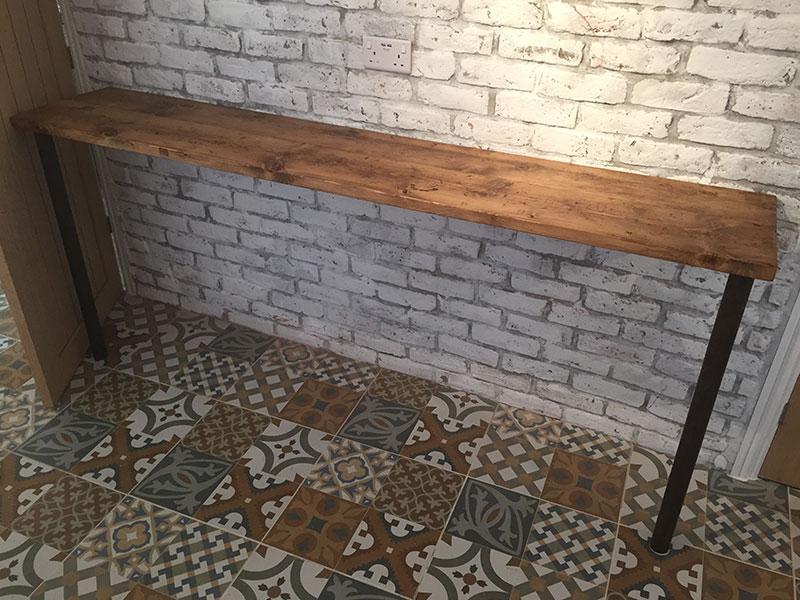 Handmade Bespoke Solid Reclaimed Pine Scaffold Board Shelves